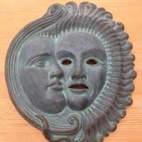Small Sun Moon Mask ornament 3D Printing 17174