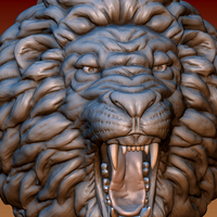 Small Lion head 3D Printing 172042
