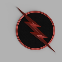 Small Injustice 2 Reverse Flash Emblem 3D Printing 172137