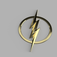 Small Injustice 2 Flash Emblem 3D Printing 172148