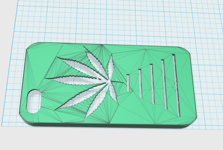 pot leaf iphone 5 case 3D Print 17219