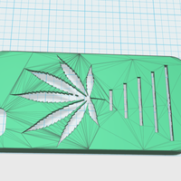 Small pot leaf iphone 5 case 3D Printing 17219
