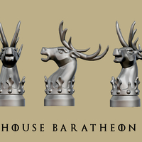 Small GOT marker House Baratheon 3D Printing 172834
