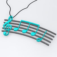 Small Music pendant 3D Printing 17311