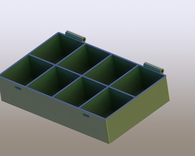 Box with lid for bolts and nuts 3D Print 173375