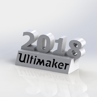 Small Ultimaker 2018 decoration 3D Printing 173376