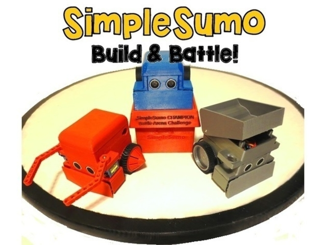 SimpleSumo- Educational Fighting Robots! 3D Print 173449