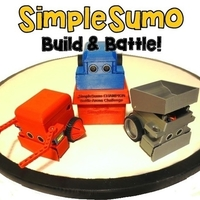 Small SimpleSumo- Educational Fighting Robots! 3D Printing 173449