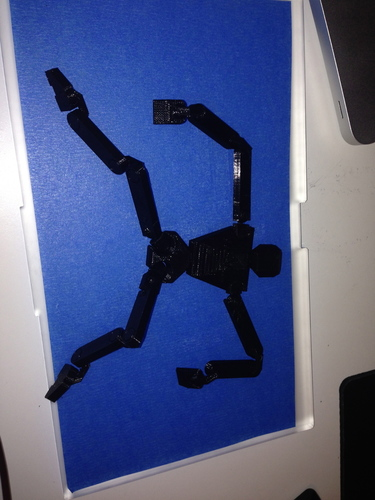 Print in Place Humanoid Robot 3D Print 17356