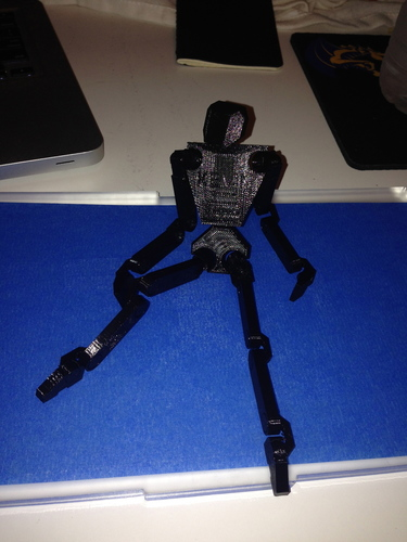 Print in Place Humanoid Robot 3D Print 17358