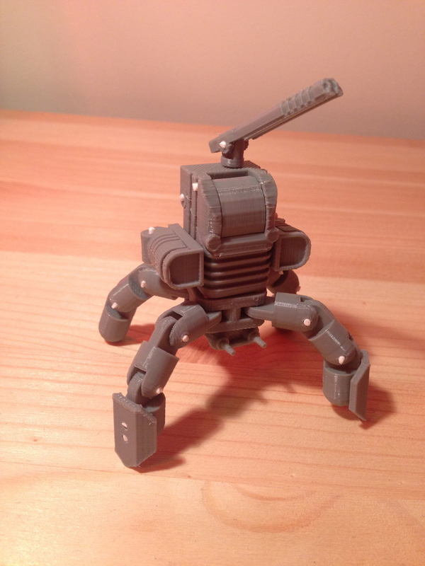 Medium Mini Mech - Armored Version 3D Printing 17365