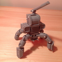 Small Mini Mech - Armored Version 3D Printing 17365