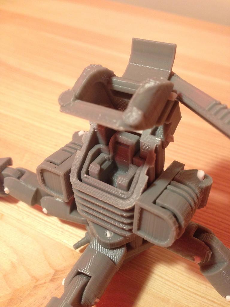 3D Printed Mini Mech - Armored Version by Kevin Sacherman