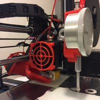 Small Wanhao Duplicator i3 v2.1 Fan Bracket Dial Mount 3D Printing 173851