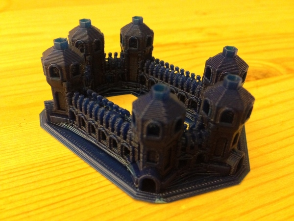 Medium Six Tower Castle 3D Printing 17387