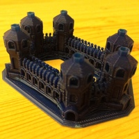 Small Six Tower Castle 3D Printing 17387