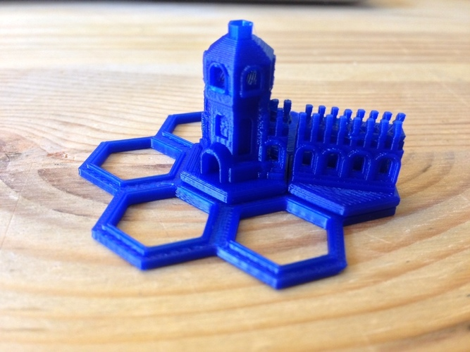 Mini Hex-Tile Towers Version 2 3D Print 17389