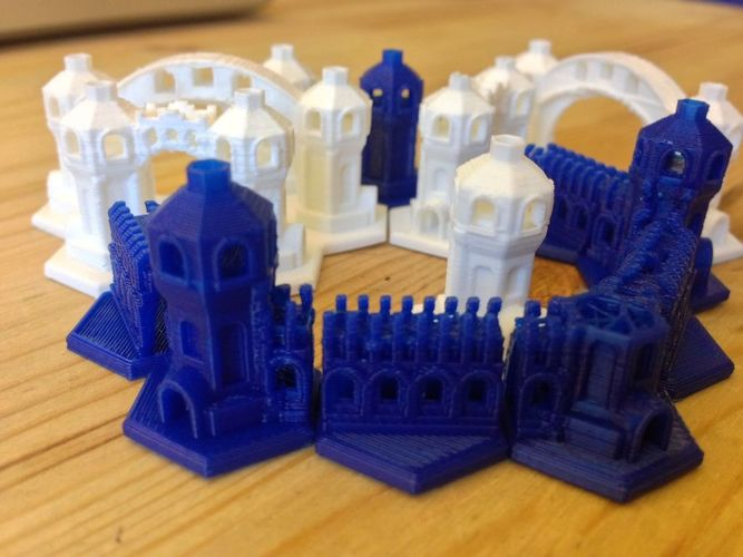 Mini Hex-Tile Towers Version 2 3D Print 17390