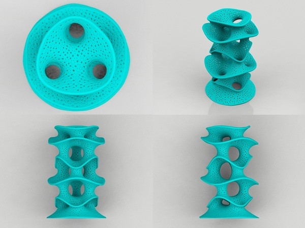 Medium Protonik Decor Vase 3D Printing 17391