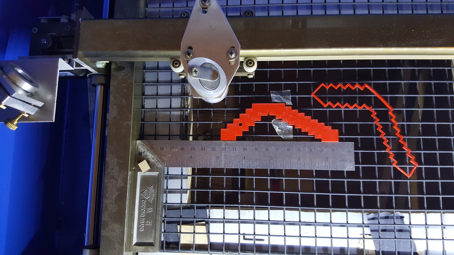 Bench saw blade height gauge 3D Print 174180