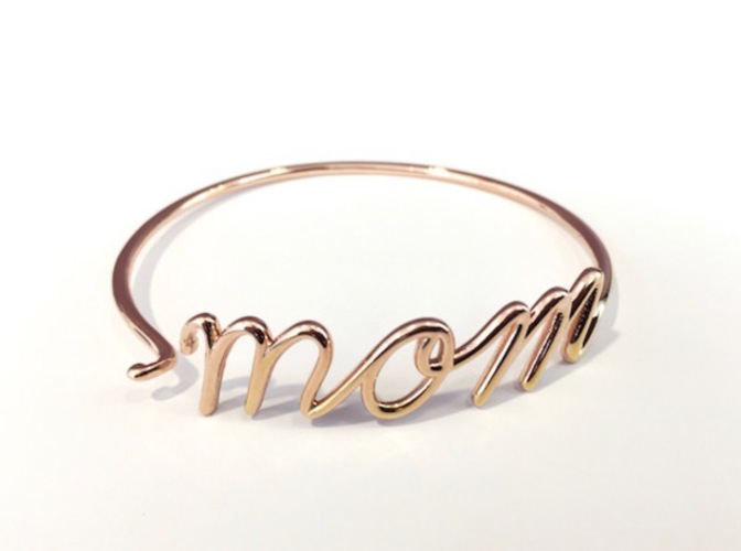 Mom Wire Bracelet (Mother's Day) 3D Print 17420