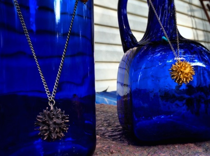 Sweetgum Tree Seed Pendant: Necklace/Earring 3D Print 17428
