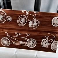 Small Five Bikes: Wire Wall Art 3D Printing 17436