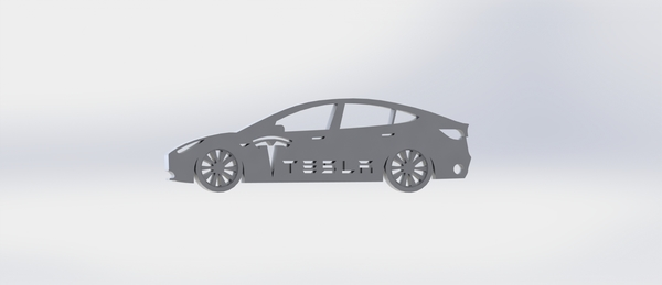 Medium Tesla Model 3 keychain 3D Printing 174367