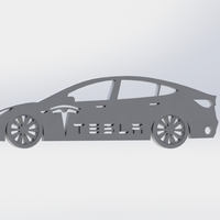 Small Tesla Model 3 keychain 3D Printing 174367