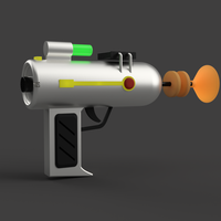 Small LASER GUN FROM RICK AND MORTY CARTOON 3D Printing 174472