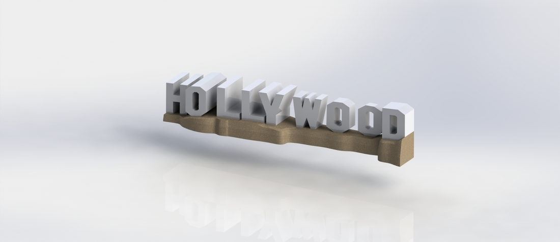 HOLLYWOOD sign 3D Print 174524