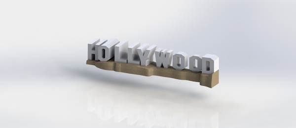 Medium HOLLYWOOD sign 3D Printing 174524