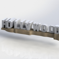 Small HOLLYWOOD sign 3D Printing 174524