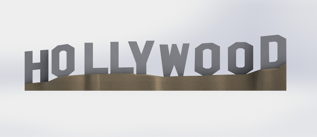 HOLLYWOOD sign 3D Print 174525