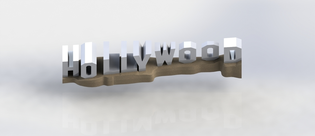 HOLLYWOOD sign 3D Print 174526
