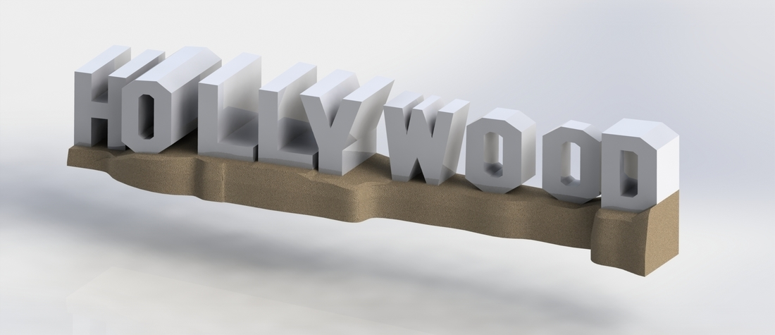 HOLLYWOOD sign 3D Print 174528