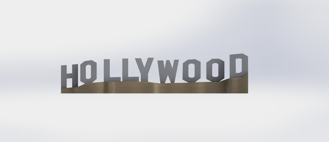 HOLLYWOOD sign 3D Print 174529
