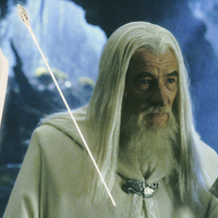 Small Gandalf White Staff Head 3D Printing 174757