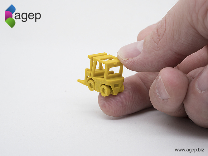 Surprise Egg #2 - Tiny Fork Lift 3D Print 174823