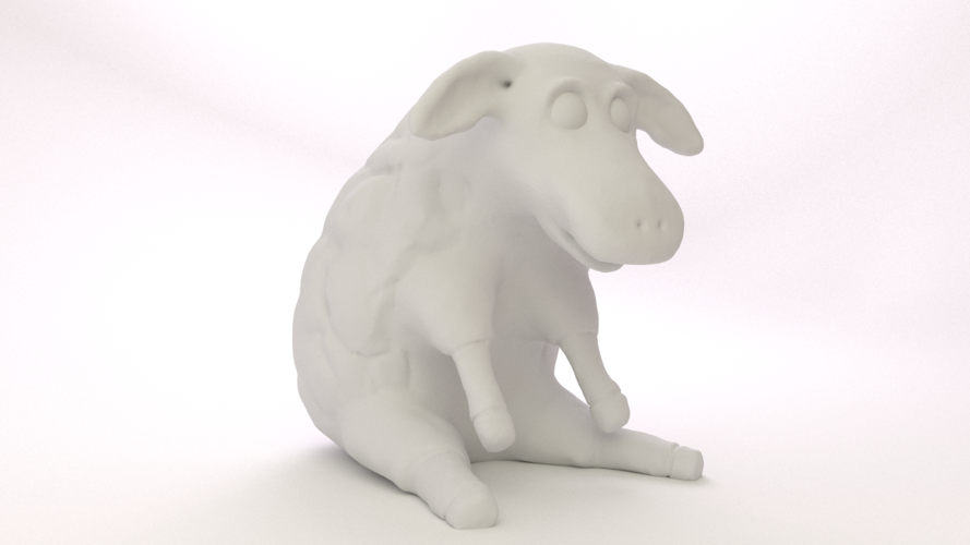 Easter Sheep 3D Print 17493
