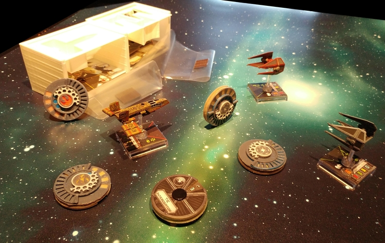 X Wing Miniature Game Damage Dials 3D Print 174952