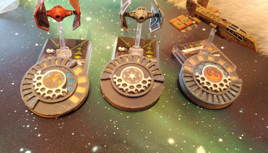 X Wing Miniature Game Damage Dials 3D Print 174954