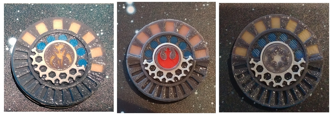 X Wing Miniature Game Damage Dials 3D Print 174955