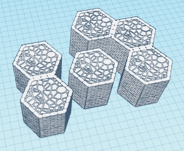 Hexagon of blocked ground - Warhammer Shadespire 3D Print 175040