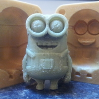 Small Minion Dave Mold 3D Printing 17512