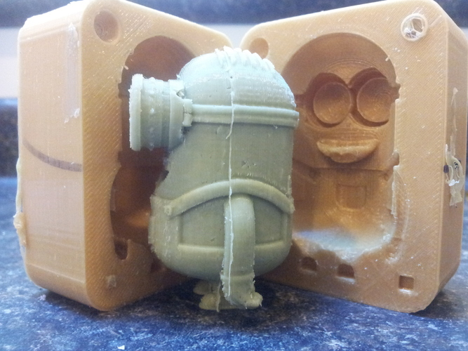 3D Printed Minion Dave Mold by dan steele