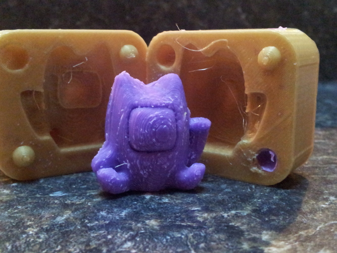 Lucky Cat Mold 3D Print 17514