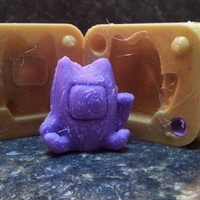 Small Lucky Cat Mold 3D Printing 17514