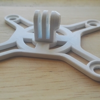 Small DJI Phantom 3 Mount GoPro 3D Printing 175207