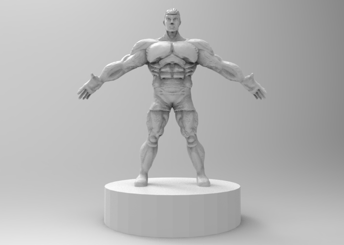 muscle male character 3D Print 175422
